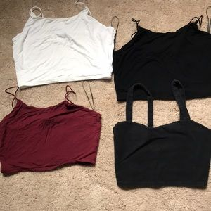 SUMMER BLOW OUT! 4 cropped tank tops